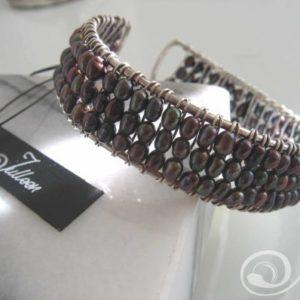Black Pearl Cuff Bracelet