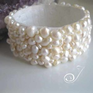White Pearl Stretch Cuff