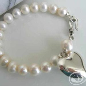 French Heart Pearl Bracelet