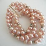 Heavenly Pink Pearl Cuff Bracelet