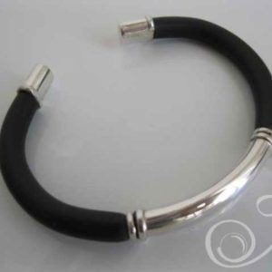 My Guy Black Leather Bracelet