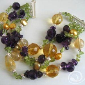 Passionfruit Crush Pearl Cuff Bracelet