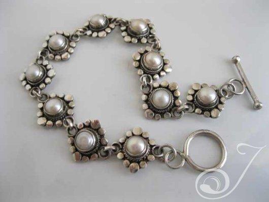 Suzie Q Pearl Designer Bracelet