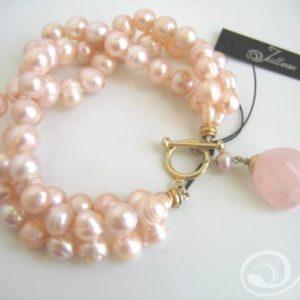 Tessa Pink Pearl Bracelet