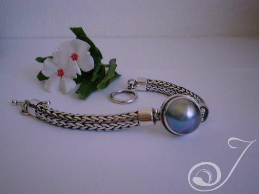 Blue Mabe Chunky Bracelet