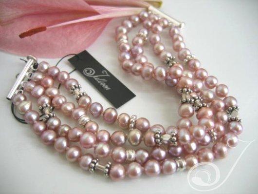Lavender Mist Pearl Cuff Bracelet