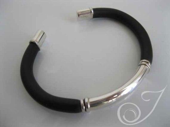 My Guy Black Leather Bracelet