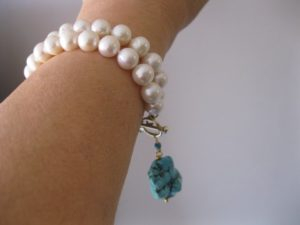pearl_turquoise_pendant_bracelet